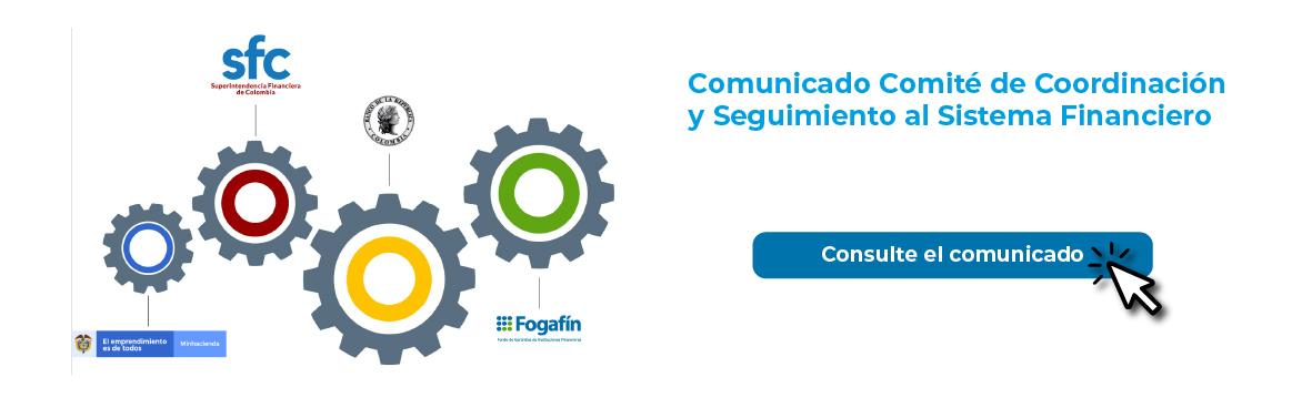 Comunicado Comité de Coordinación y Seguimiento al Sistema Financiero